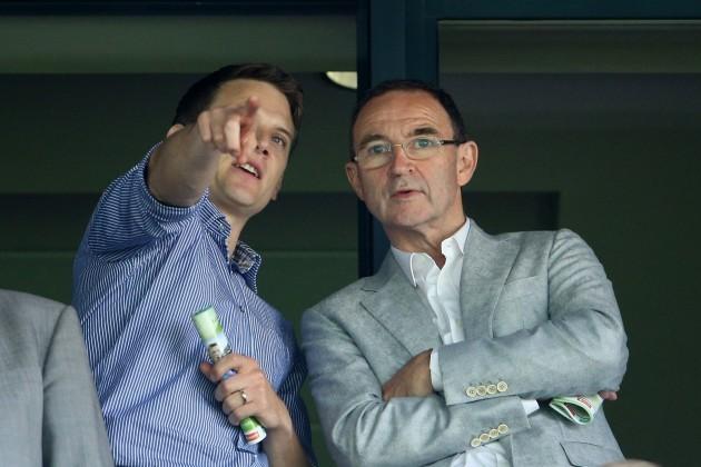Tomas Quinn with Martin O'Neill