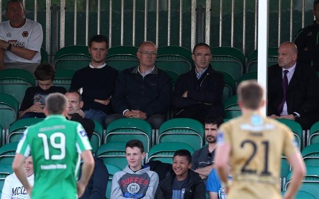 Republic of Ireland manager Martin O'Neill looks on