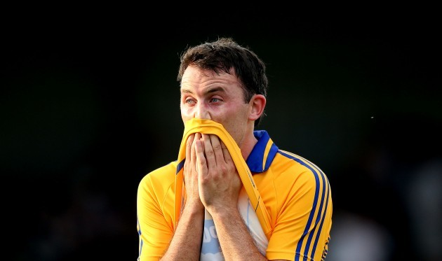 David Tubridy dejected after the game