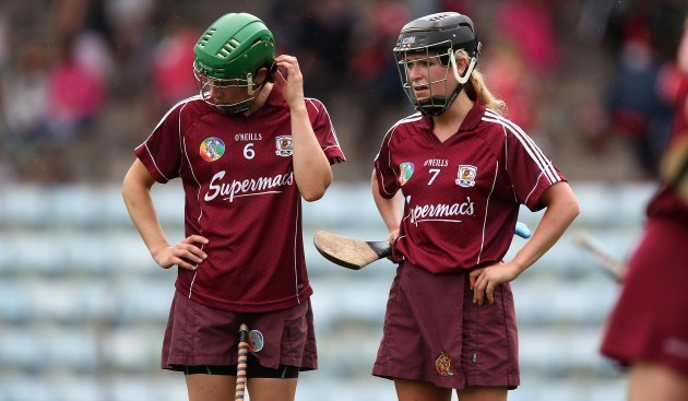 Ann Marie Hayes and Lorraine Ryan dejected