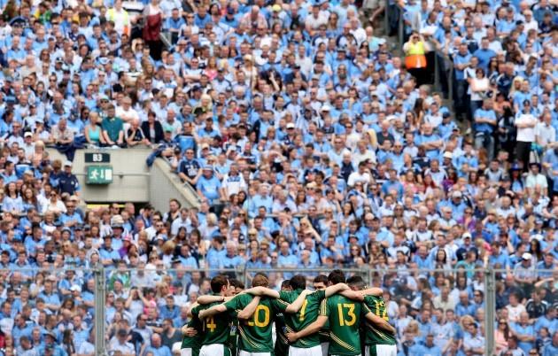 The Meath team huddle