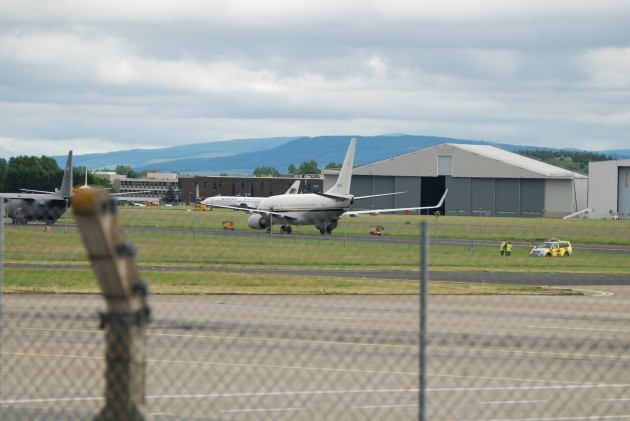 22July14 photo 7 two US Navy warplanes Irish army, Gardai and airport security fail to search