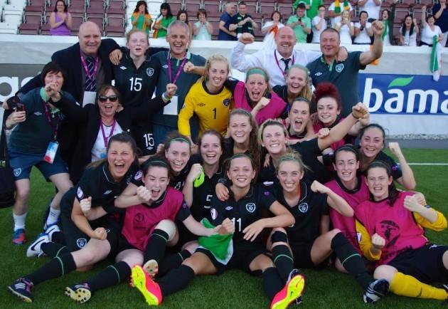 Ireland U19s celebrate