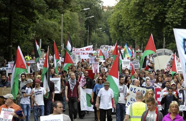 Gaza Protest. Pictured around 2,500 pe