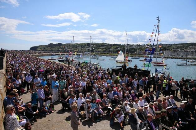 Asgard yacht landing commemoration