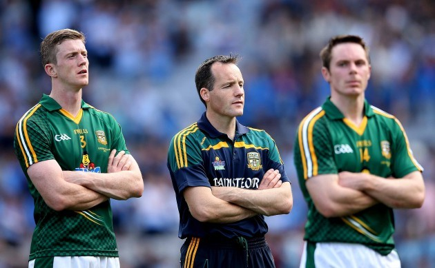 Kevin Reilly, manager Mick OÕDowd and Stephen Bray dejected