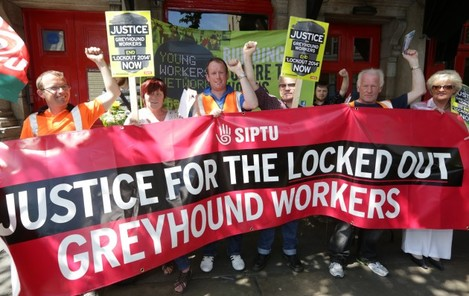 Greyhound Workers Protests