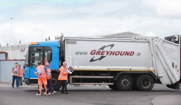 Greyhound strike continues. A truck dr