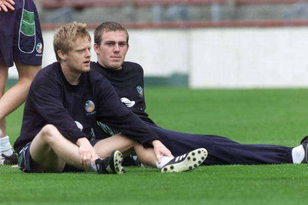 Richard Dunne and Damien Duff 14/8/2001 DIGITAL