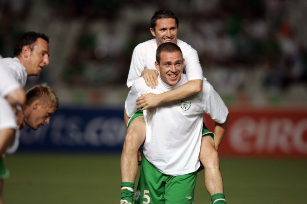 Robbie Keane and Richard Dunne 7/10/2006