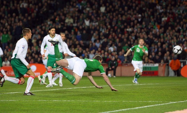 Richard Dunne scores the opening goal
