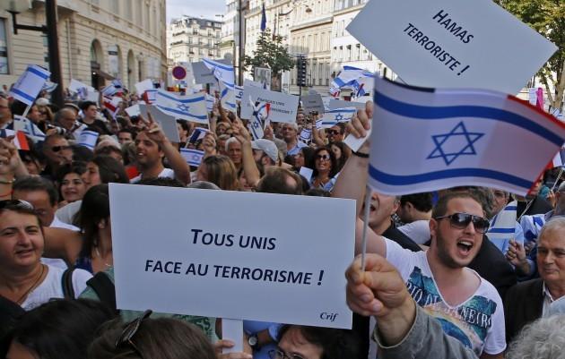 France Pro Israel Protest