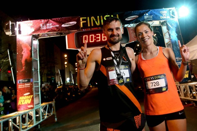 First place male Sergiu Ciobanu and first place female Orla Drumm