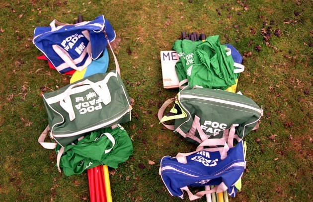 A view of some kit bags