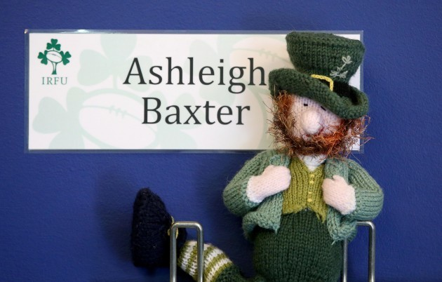 Seamus the team mascot is kept with Ashleigh Baxter