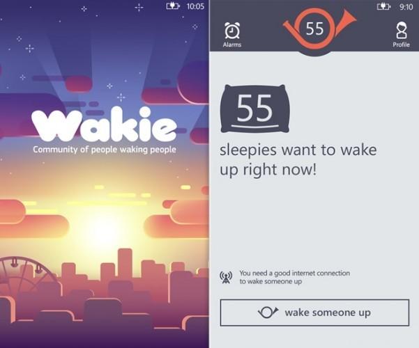 Wakie app