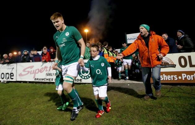 Sean O'Brien leads out his team