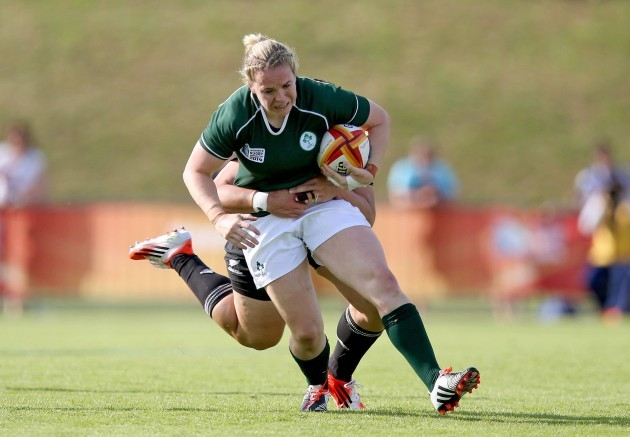 Niamh Briggs tackled by Amiria Rule 5/8/2014