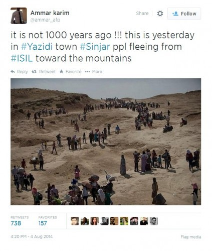 sinjar fake pic tweet