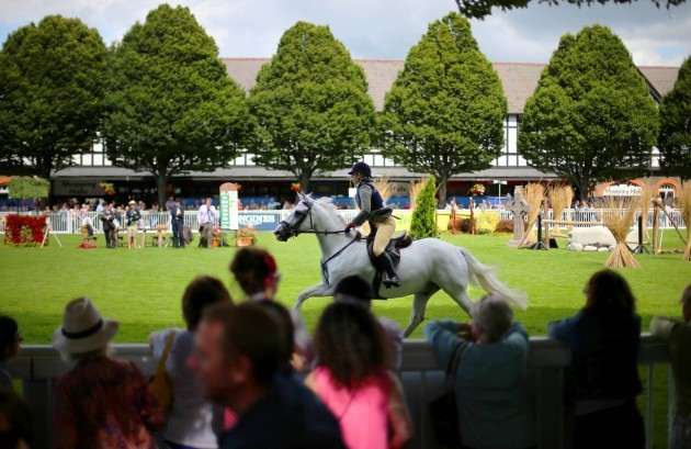 General view from today's Dublin Horse Show 6/8/2014