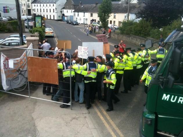 Protestors - Journal- Gaurds in Kettle Formation2
