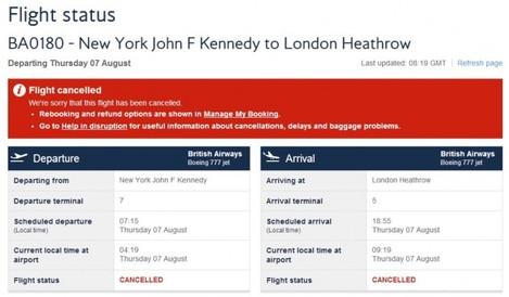 BA cancelled