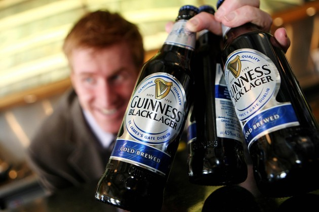 2010: John Kennedy, MD of Diageo Ireland in St. James Gat at the launch of Guinness Black Lager