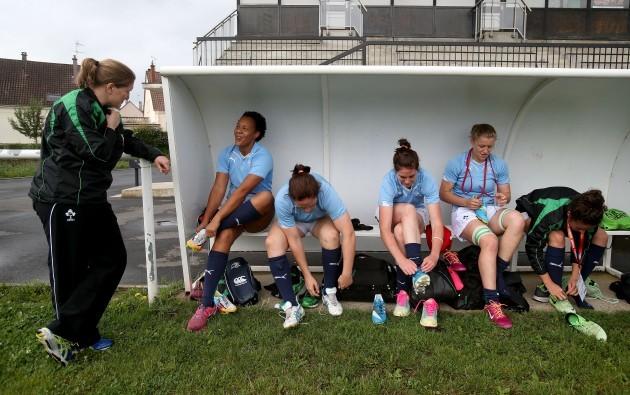 Heather O'Brien, Sophie Spence, Ailis Egan, Nora Stapleton, Claire Molloy and Larissa Muldoon