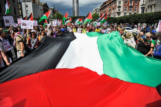 Free Palestine Demonstration, Dublin's O'Connell Street 9/08/2014