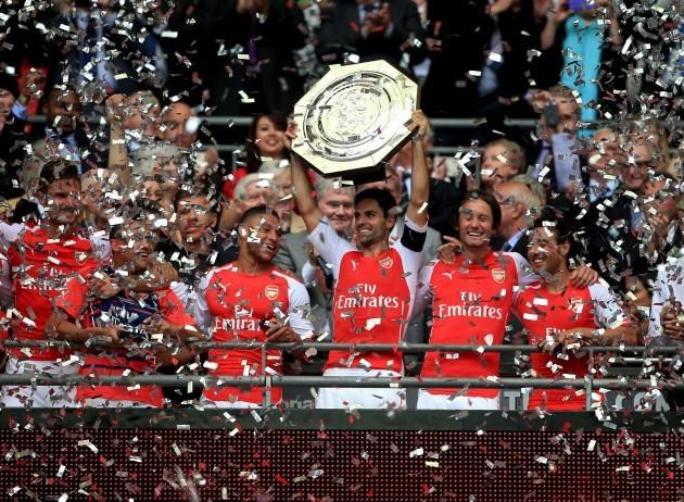 Soccer - Community Shield - Arsenal v Manchester City - Wembley Stadium
