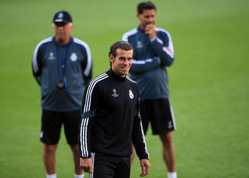 Soccer - 2014 UEFA Super Cup - Sevilla v Real Madrid - Real Madrid Training - Cardiff City Stadium