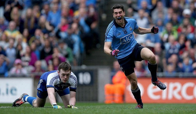 Bernard Brogan celebrates scoring his side's second goal