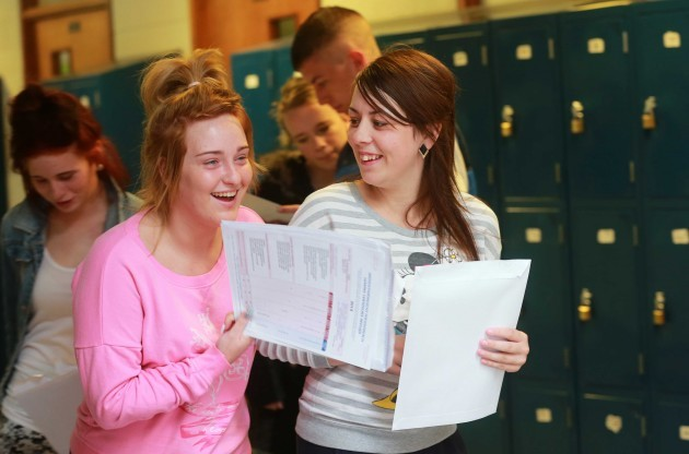 Leaving Cert results. Students from fr
