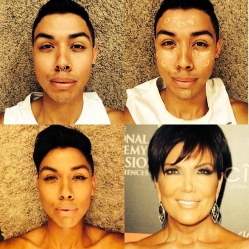 Girls be transforming like... #redcarpetready #makeuptransformation #krisjenner #kris #jenner #KeepingUpWithTheKardasians #kardasian