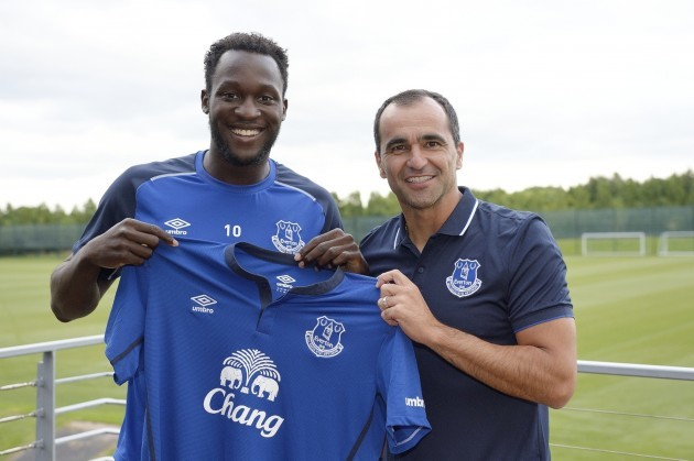 Soccer - Everton FC - Romelu Lukaku Unveiling - Finch Farm