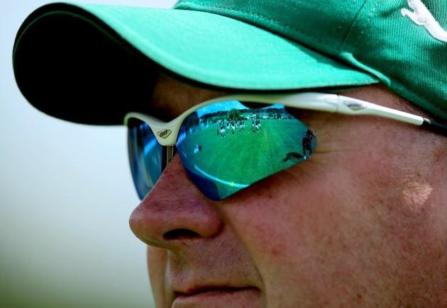 Philip Doyle keeps a eye on training