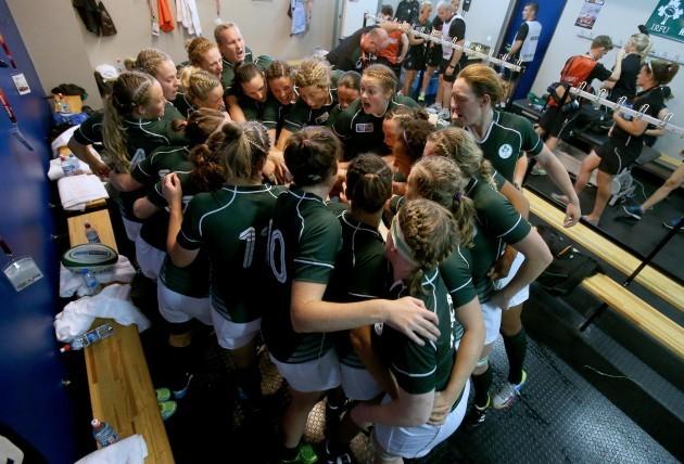 Ireland team in the dressing room