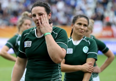 Paula Fitzpatrick after the game