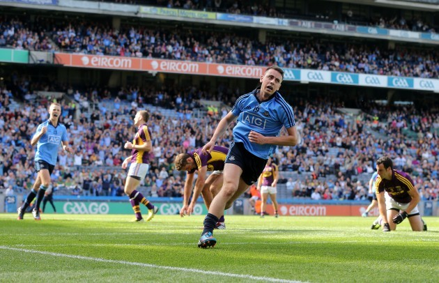 Cormac Costello after scoring a goal