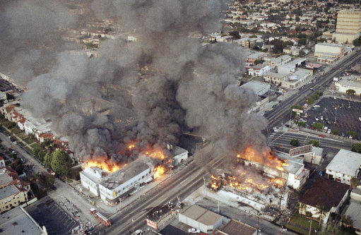 Dem. Riots U.S. Los Angeles 1992 Day 2