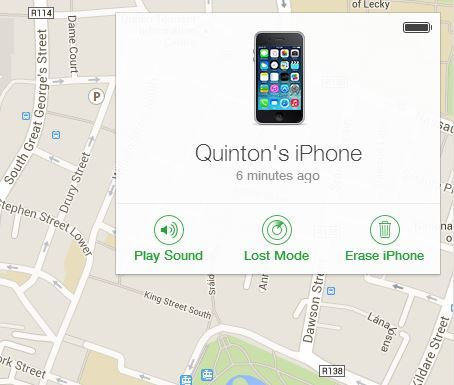 iOS Find My Phone