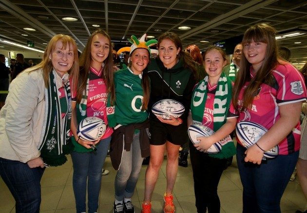 Fiona Coghlan with fans