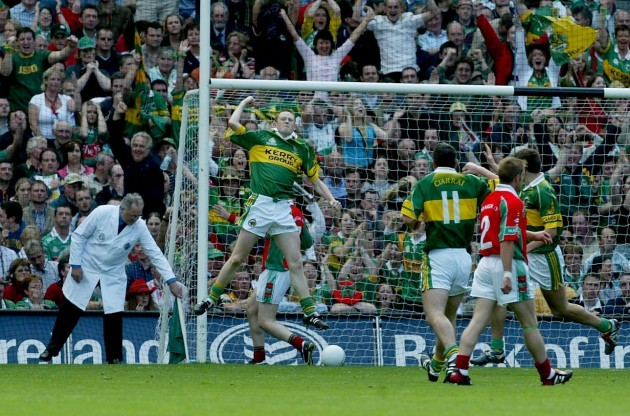 Colm Cooper celebrates scoring a goal