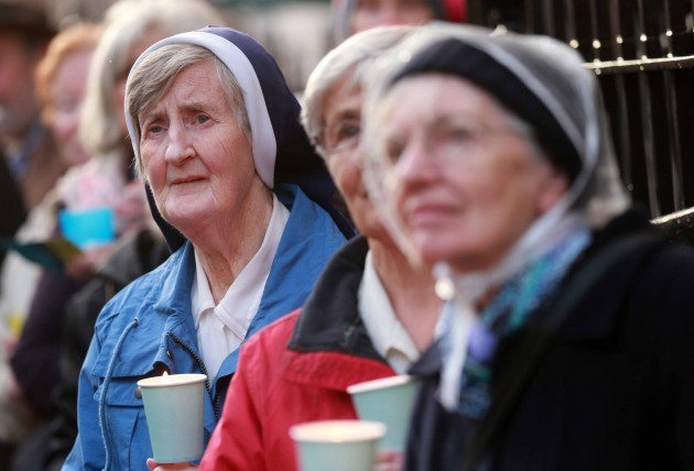 22/08/-2014. Anti abortion vigil. Supporters of th
