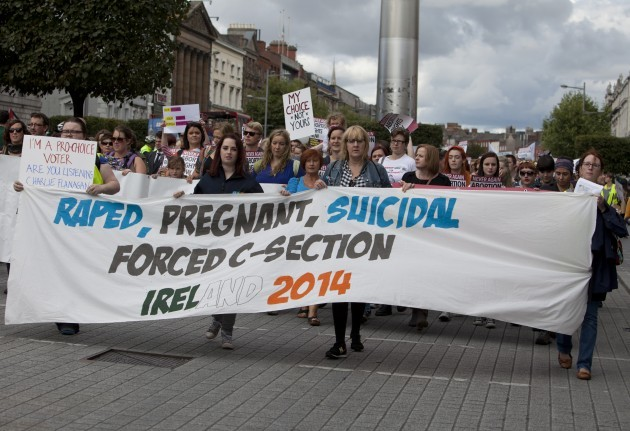 Pro Choice Protest Dublin. Members of t