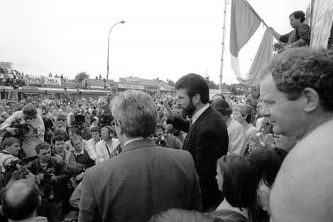 GERRY ADAMS : IRA CEASEFIRE