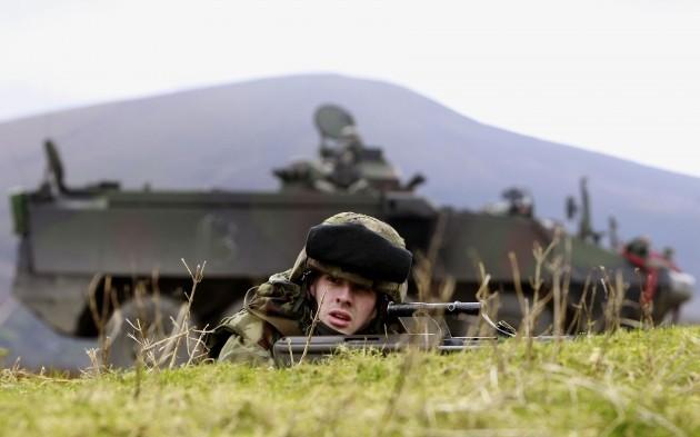 Irish Defence Force training exercise