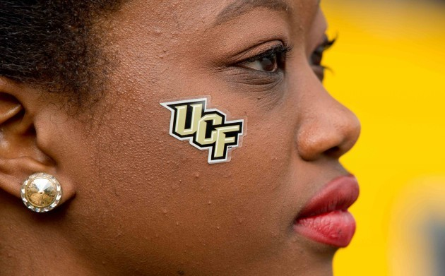 A general view of a University of Central Florida cheerleader