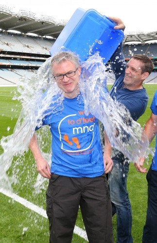 Kieran McGeeney with Joe Brolly