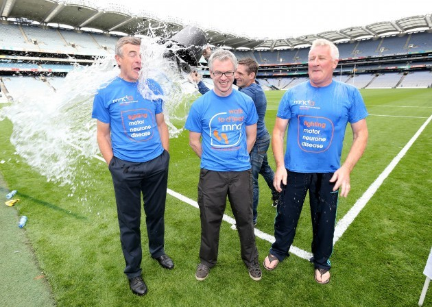 Kieran McGeeney with Joe Brolly and Pat Spillane